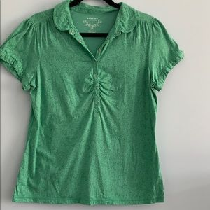2/$20- Sonoma green floral t-shirt -size L